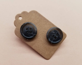Handmade Button Earrings 28
