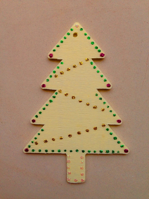 Handmade Christmas Tree Decoration, Festive Tree