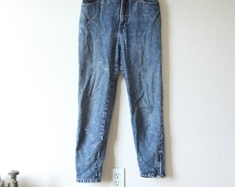 80s Acid Wash High Waist Jeans