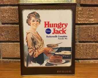 Pillsbury Hungry Jack Pancake mix vintage tin