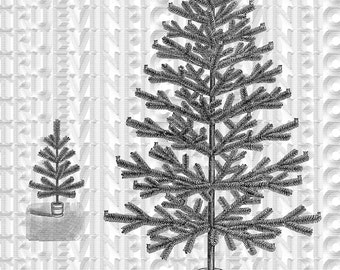 digital download,Christmas tree,clipart, scrapbooking,collage sheet,vintage picture,black and white,victorian print,clipart,postcard,diy