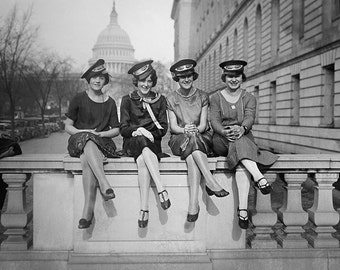 Messenger Girls Photo, Western Union, Washington DC Vintage Photography, Black White, Girlfriends, Friendship, Photograph, Gift For Her