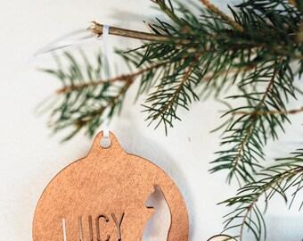 Custom Meowy Christmas Ornament
