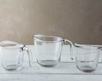 Set of 3 Glass Measuring Cups-Food Photography Props