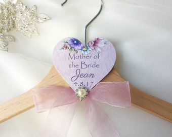 Personalised Mother of the Bride wedding hanger