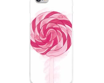 Lollipop Case, Pink Cell Phone Case, Lollipop Accessories, Candy Case, Pink Cell Phone, iPhone Case, Samsung Galaxy Case, Pink Phone