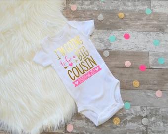 Big Cousin Shirt, Little Cousin Shirt, Pregnancy announcement, promoted to big cousin, big cousin, cousins make the best friends
