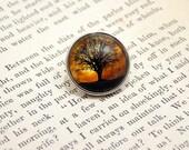 Snap Charm Button - Tree Over Harvest Moon - Meme Jewelry, Meme Gifts, Dank Memes, Vintage, Noosa, Ginger Snaps, Antique
