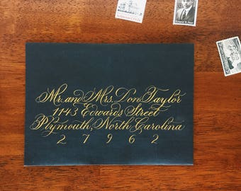 Calligraphy Wedding Envelopes, Envelope Addressing, Custom Calligraphy, Copperplate Flourished