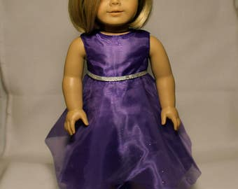 Purple Dress-Made to fit 18 inch Dolls like American Girl Doll Clothes