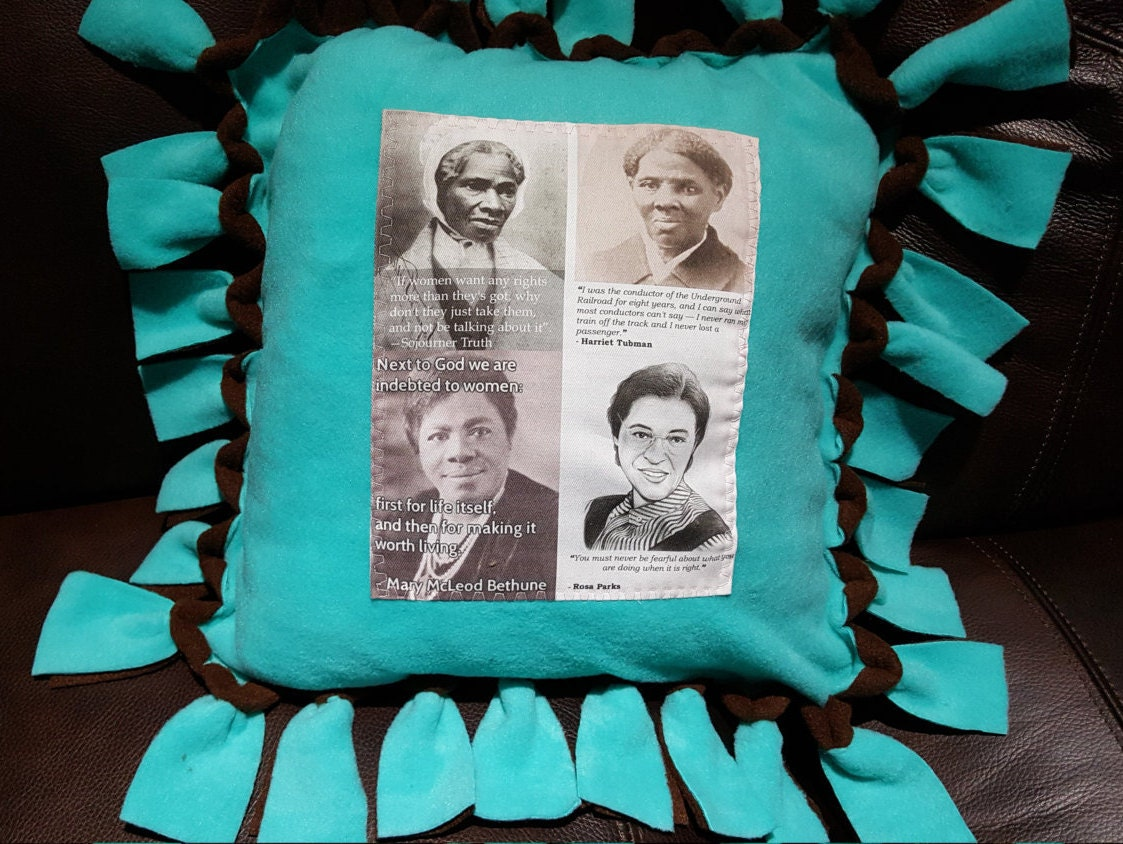 black history pillow sojourner truth harriet tubman rosa 128270zoom