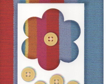Red Blue Flower Cardstock Frame My Mind's Eye This & That Scrapbook  Embellishments Cardmaking Crafts