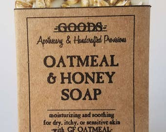 Oatmeal and Honey Soap, All Natural Soap, Glycerin Soap, GF Oatmeal Soap