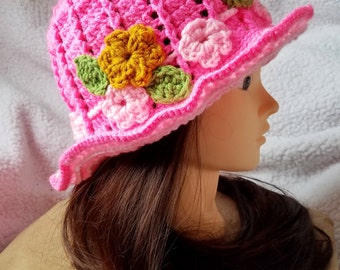 Spring Hat, Cloche Hat, Summer Hat, Sun Hat, Panama Hat