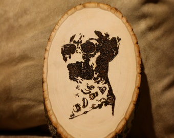 Custom Pet Portrait--Wood Burned Wall Art