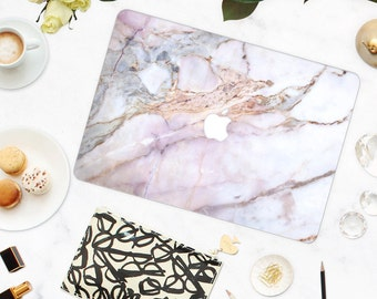 White Pink Marble MacBook Case, MacBook Hard Case, MacBook Air Protection, MacBook Pro 2016 Touch Bar Case, MacBook Pro Retina Hard Case