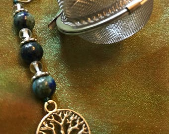 Crystal Tea Ball-Tea Infuser-Earth Day Inspired-Tea infuser-Malachite & Azurite
