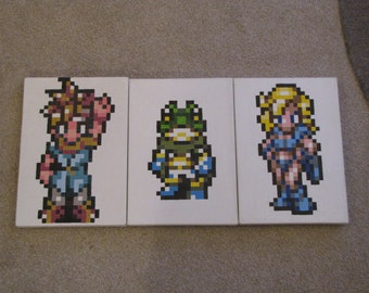 Retro Nintendo Pixel Art Canvas. Chrono Trigger