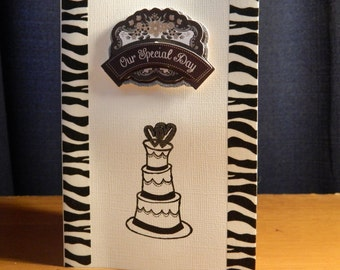 Our special day - wedding greeting card