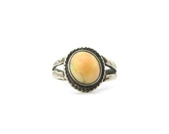 Beautiful Very Old Sterling Silver Antique Opal Gemstone Ring Size 6.5