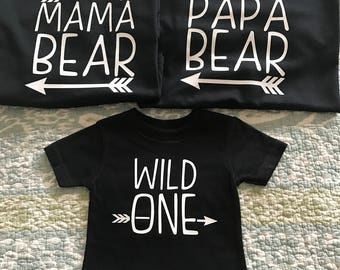 Baby First Birthday Family Shirt Set