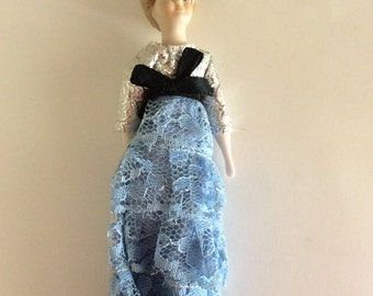 Handmade Antique Bisque & Cloth Doll