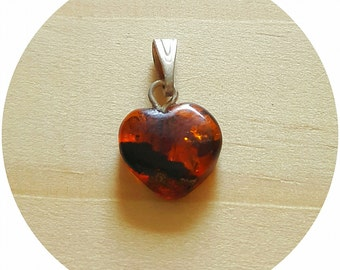 Genuine Baltic amber Heart for pet Sphynx, Devon Rex, cat, flea controll, collar decoration