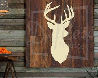 Deer Stencil, Deer Head Stencil, Deer, Stencil of Deer, Wall Stencil, Stencil for Signs, Reusable Stencil, Deer Template, Deer stencils