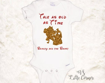 Tale as old as time shirt onesie Beauty and the Beast toddler shirt belle onesie baby girl outfit disney trip kids gift