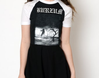 Black Metal Burzum Altered Tee Baby Doll Dress