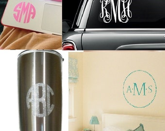 Monogram Decals 27 Varieties to Choose From and 63 Colors!