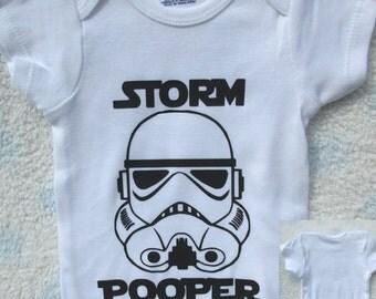 Storm Pooper onesie | funny baby shower gift | Baby Bodysuit | Boy or Girl | Star Wars | STEM | Resist | Onsie | Stormtrooper