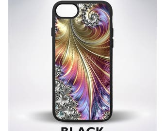 Psychedelic Neon Flower Fractal Phone Case for iPhone 8 iPhone X iPhone 7 iPhone 6 iPhone 5 iPhone 7 Plus iPhone 6 Plus iPhone SE Samsung