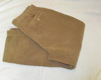 Vintage Men's Tan Ralph Lauren POLO Corduroy Pants - Size 34