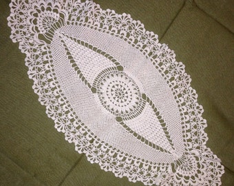 Oval doily 19inX10in