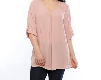 Mauve Plus Size Top