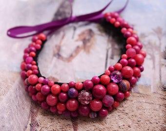 In stock, purple jewelry, purple necklace, bridesmaid necklace, amethyst necklace, boho necklace, purple bead necklace, purple bridesmaids