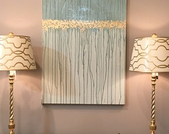 """Gold Leafed """"Drip"""" Painting - FREE SHIPPING"""