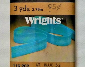 Wrights Wide Bias Tape | 3 YDS | Light Blue #52 | 1980
