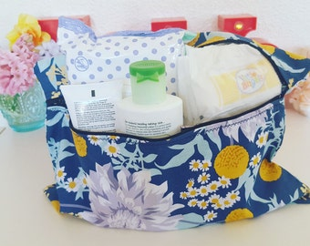 Full Floral Baby Essentials Unlined Zip Bag