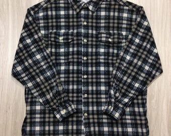 Columbia Vintage Men's Fleece Button-Down Shirt - Size Large