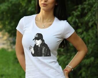Women's T-shirt Lana Del Rey Tshirt Lana Del Reys Tee Born to Die Cotton tshirt Gift Rock Tshirt rock Tshirt Lana Del Rey Top