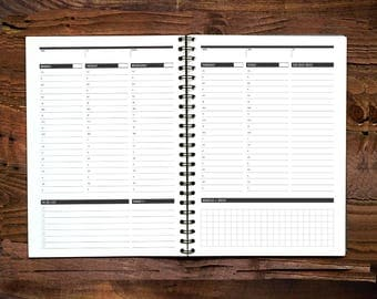 Printable Weekly Planner, Daily Agenda Plan, Printable Weekly To Do list, 1 Week Planner, Daily Action Plan, Student Agenda, Day Planner