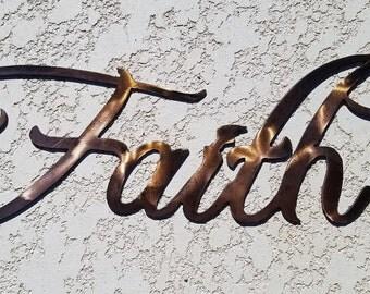 Copper Faith Sign.  Wall Decor