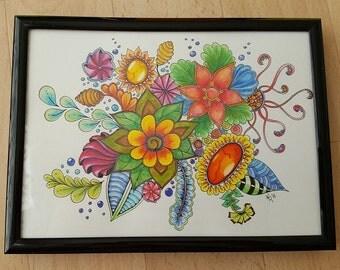 Flowers - watercolor 19x14cm