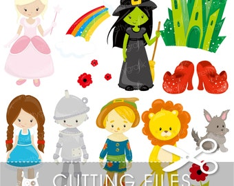 Wizard of Oz cutting files, svg, dxf, pdf, eps included - Dorothy cutting files for cricut and cameo - Cutting Files SVG - CT740