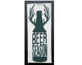 Beer Sign, Deer Hunting Sign, Mancave Sign, Mancave Decor, Mens Wall Art, Beer Wall Sign, Wood Mancave Sign, Deer Hunting Decor, Home Decor