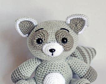 Crochet Raccoon, Amigurumi Raccoon, Raccoon Stuffed Animal, Frampton the Raccoon