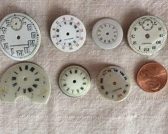 7 Stunning Antique Clock Faces - lot 13