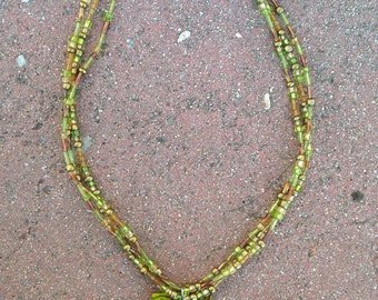 Earthy necklace and bracelet combo